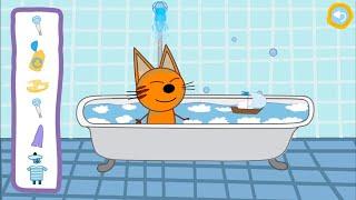 Три кота 4 серия День с тремя котам- игра для детей! развивающие игры для самых маленьких детей.