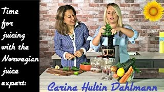 Carina Hultin Dahlmann- Time to juice! Making a juice for the heart chakra (Norsk undertekst)