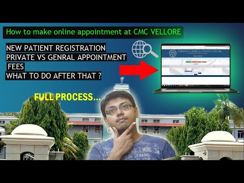 LIVE 2019:: How to get vellore cmc online appointment? First new registration? | Step By Step [Beng]