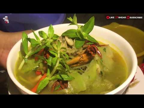 របៀបធ្វើសម្លខួក្តាមននោង | Cook Crab Soup for My formerly - មេផ្ទះ (Housewife)