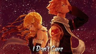 Nightcore - I Don't Care(Switching Vocal)