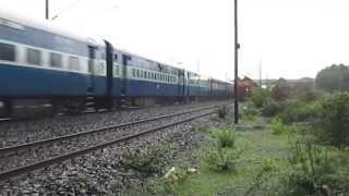 Indian Railways  - Marvellous Crossing of trains in Monsoon Rains !!!!!
