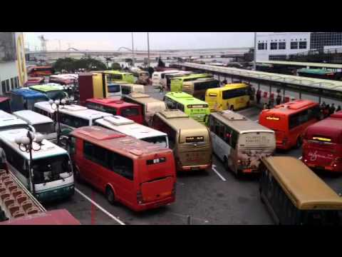 L3 Macau Hotel & Casino Bus Chaos - at the two maritime ferry terminals