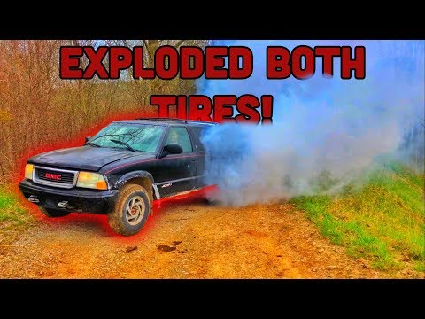 EXPLODED! GMC Jimmy BURNOUT!