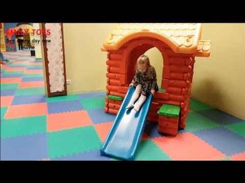 Kids Playing On Slide At Home Toddler Slides Playset Emily Toys