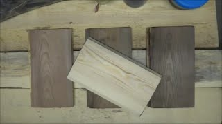 Aging Wood With Vinegar And Steel Wool / Состаривание древесины