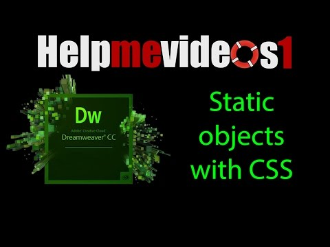 Dreamweaver CC Static objects with CSS