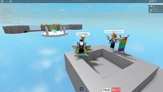 Playing Blockate Hub with my friend | ROBLOX