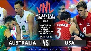Australlia vs USA  | Highlights Men's VNL 2019
