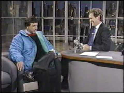 Marv Albert on Letterman, 1/4/89