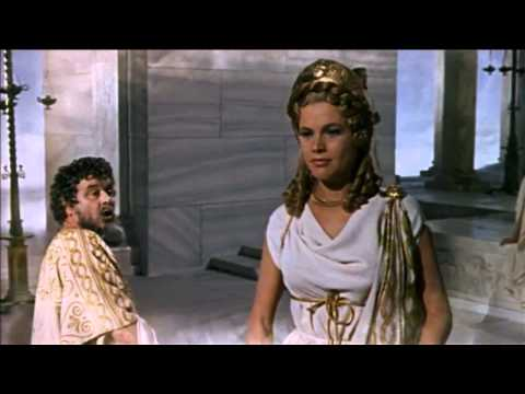 Honor Blackman as Hera, queen of the gods