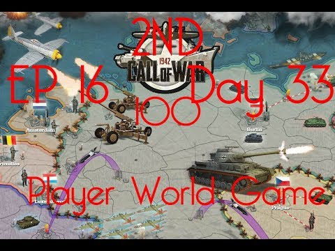 Call of War 1942 2ND 100 Player Fan Game, Day 33-37 EP16 MOBILE VERSION