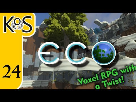 Eco Ep 24: SINGLEPLAYER WOES - Voxel Builder/RPG - Let's Pla