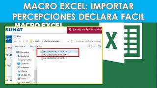 Macro Excel Para Importar Percepciones Al Declara Facil SUNAT 2020