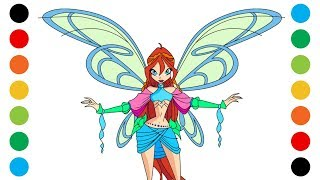 Winx Club Bloom Sophix Coloring Pages for Kids | Digital Coloring