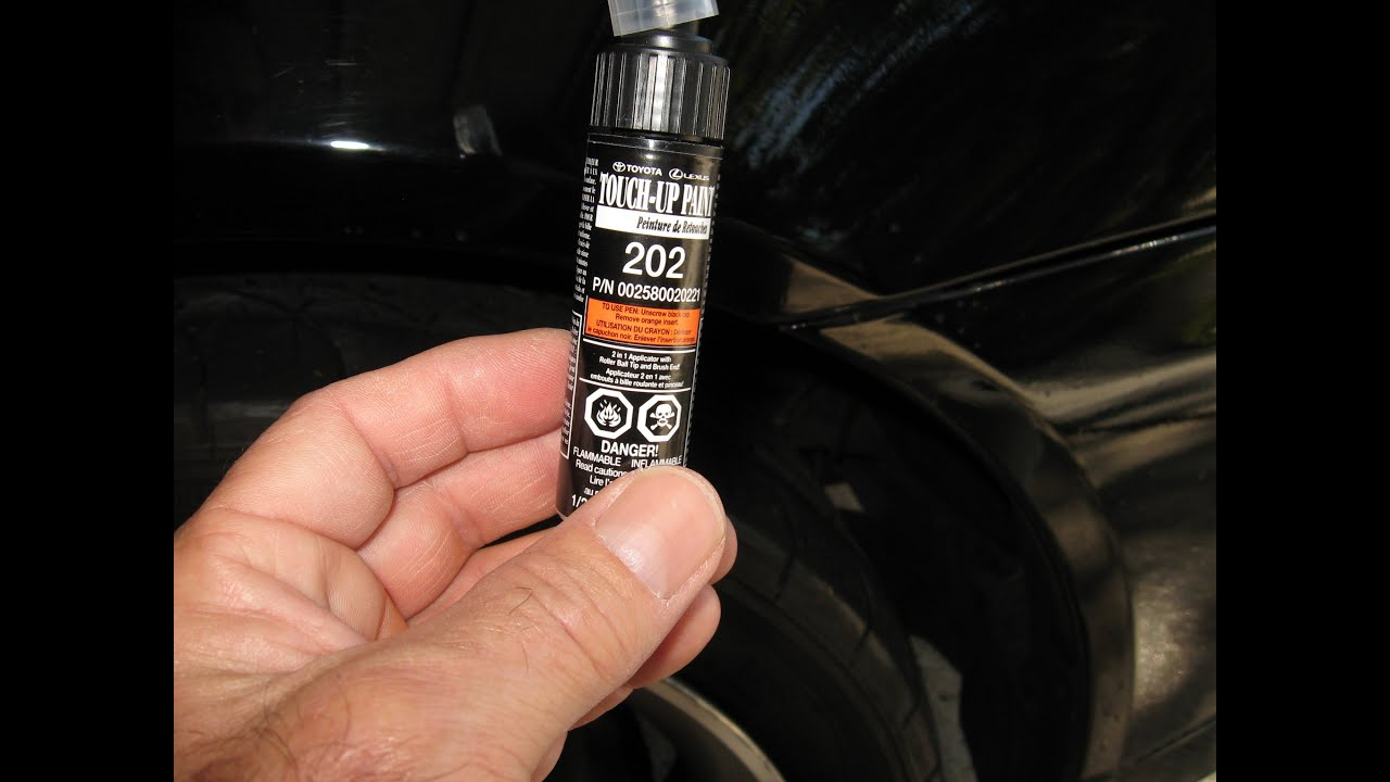 Lexus paint scratch fix touch up method black colors by for Toyota paint touch up pen