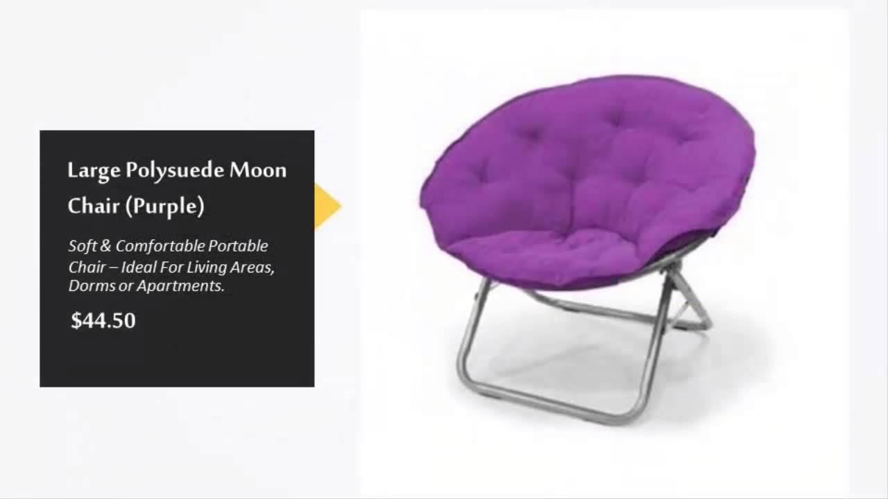 Purple saucer chair -