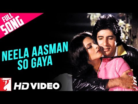 Neela Aasman So Gaya (Male) - Full Song HD | Silsila | Amitabh Bachchan | Rekha