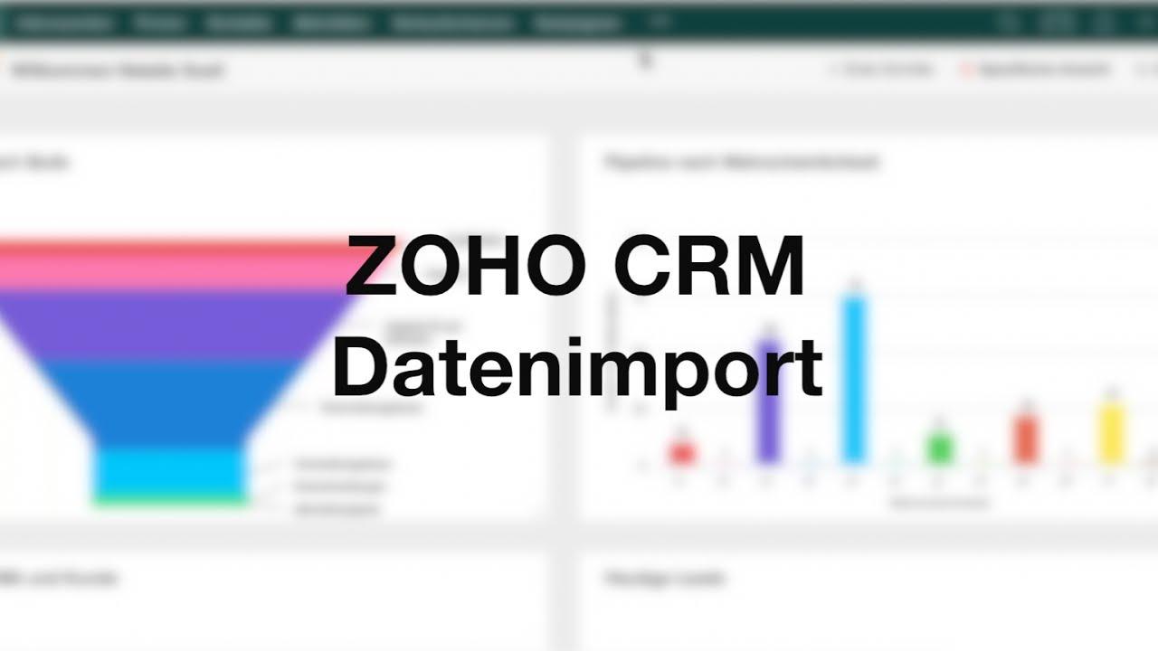 ZOHO CRM Deutsch - Datenimport