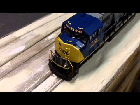 Modelling Railroad Train Track Plans -Remarkable Planning For HO Kato CSX SD70MAC Review