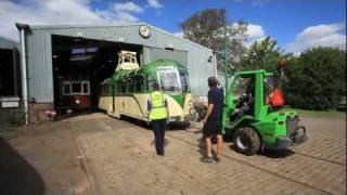 Blackpool Vambac No.11 Arrives at Beamish Museum - Unloading at Foulbridge