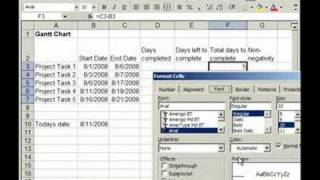 Make a Dynamic Gantt Chart in Excel - Dates Update Daily (Part 1 of 2)