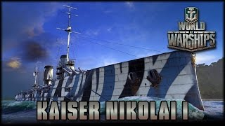 World of Warships - Kaiser Nikolai I - Tier 4 Premium  [ deutsch | gameplay ]