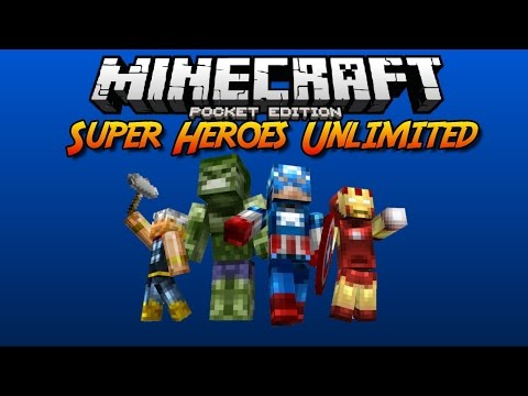 Super Heroes unlimited mod v3 »Minecraft pe 0.11.0«