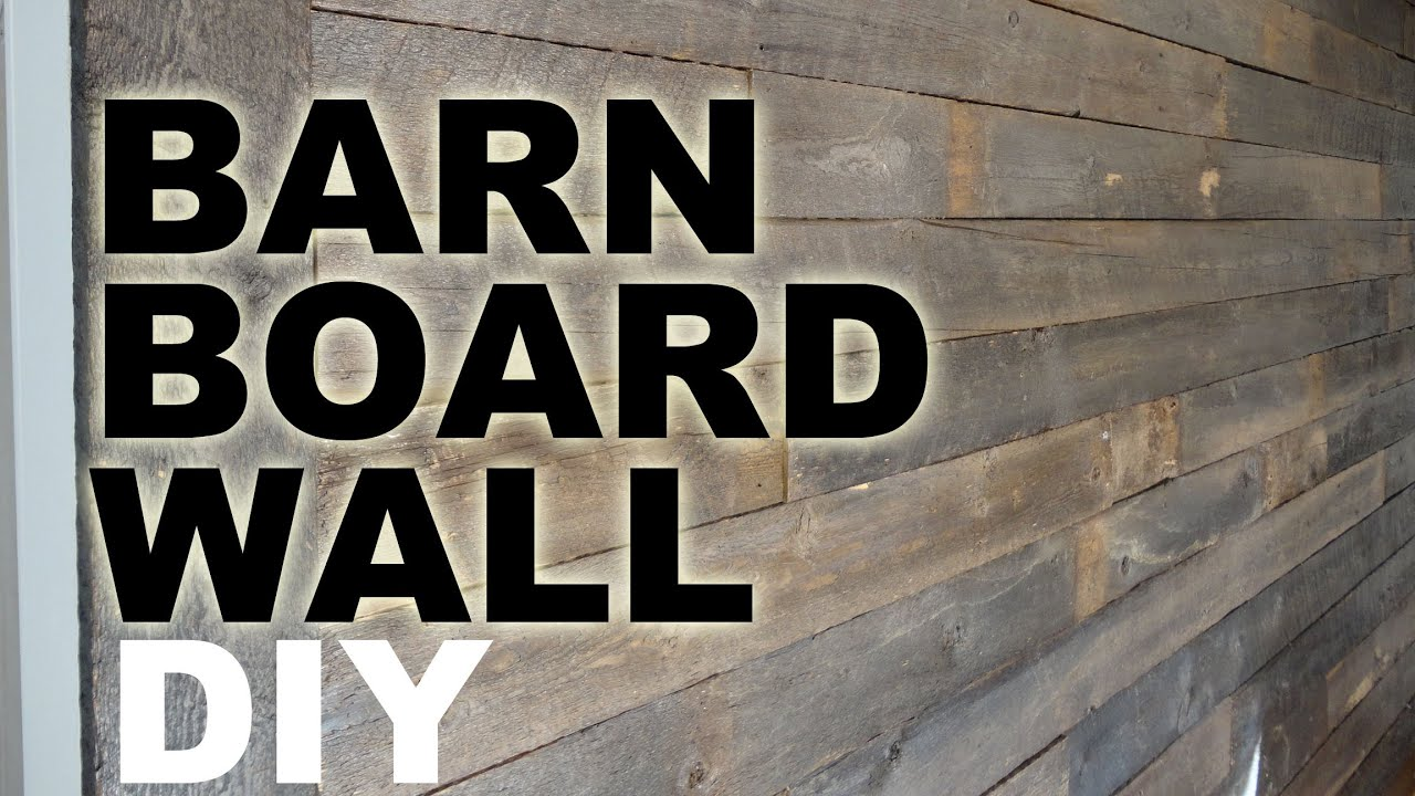 Diy Barn Board Feature Wall Tutorial Youtube
