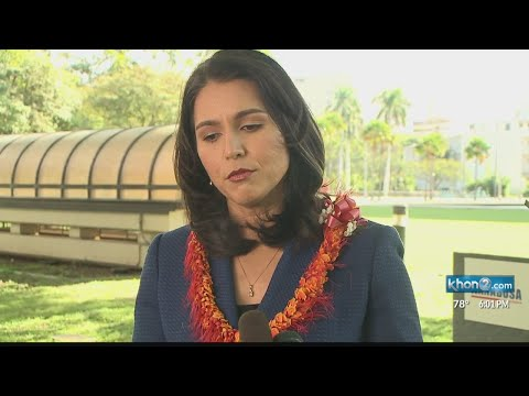 Congresswoman Tulsi Gabbard says she's considering a run for president
