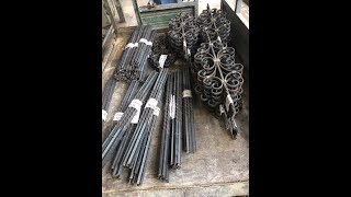 Phụ kiện sắt mỹ thuật, linh kiện sắt, cụm hoa văn sắt
