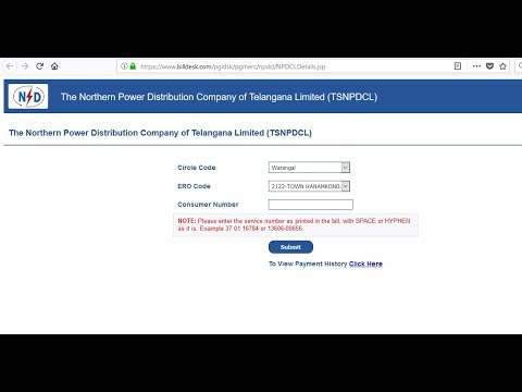 How to Pay Electricity Bill Online Telangana TSNPDCL