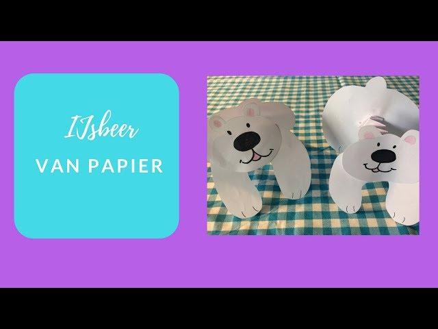 knutselpret tv: ijsbeer van papier