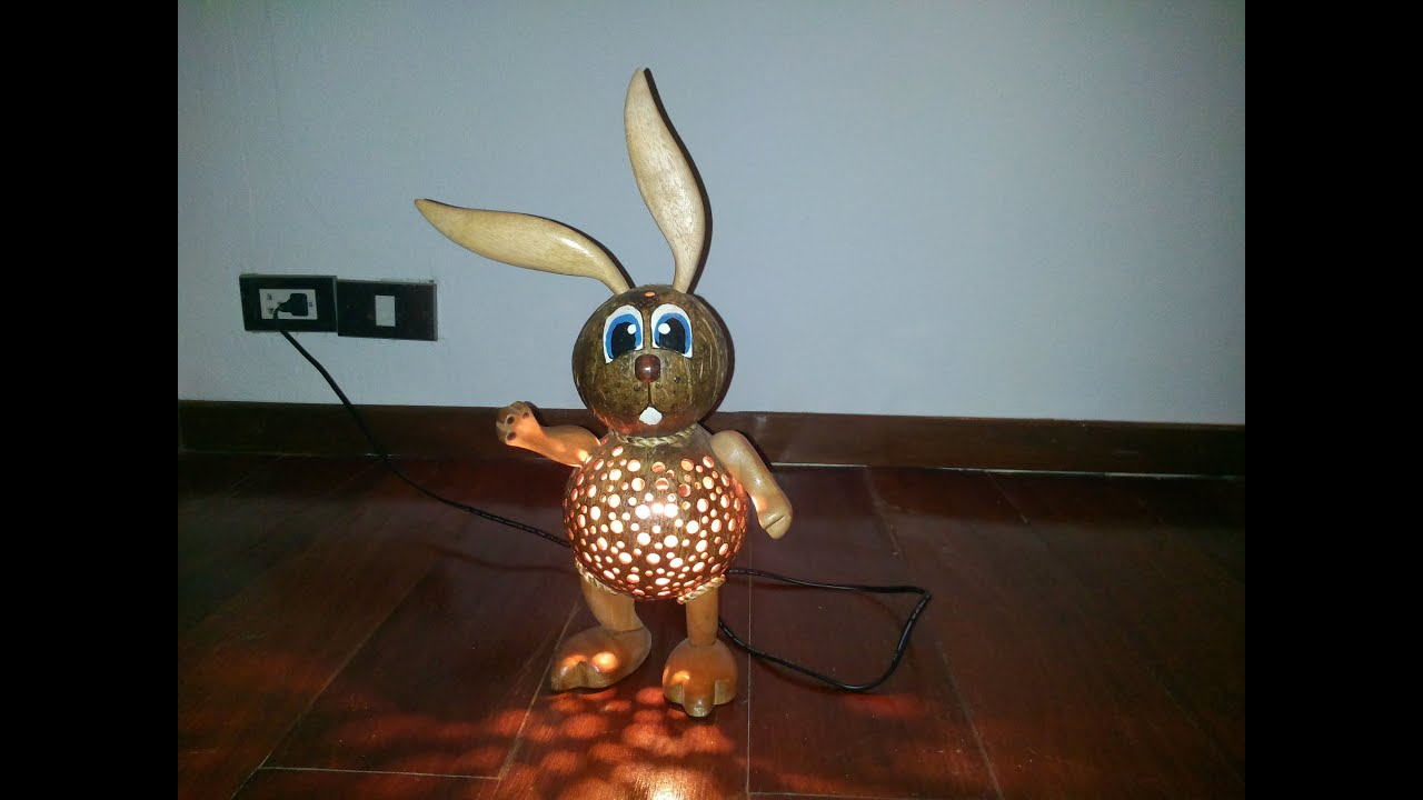 Coconut rabbit youtube for Wealth out of waste craft
