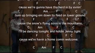 Western Music Cowboy Song My Pony and Me The Terry Family with chords and lyrics
