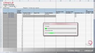 Payables | Creating an Invoice in a Spreadsheet