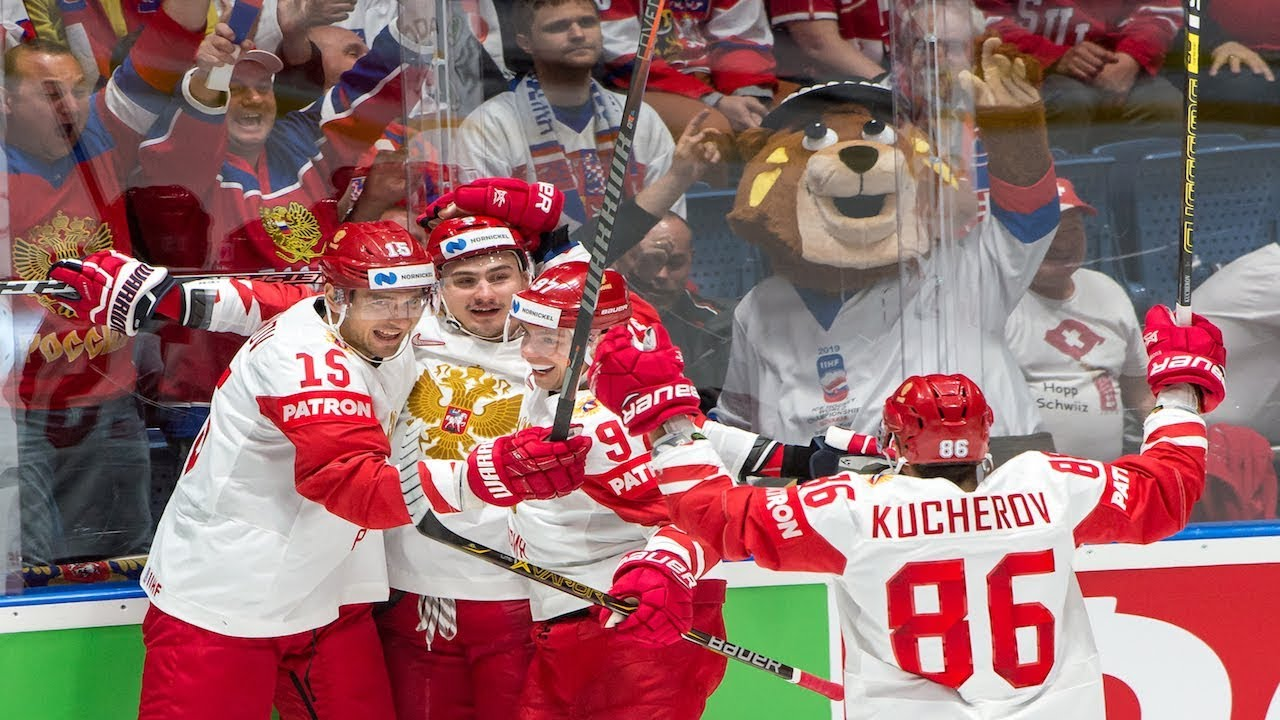 Kucherov scores twice, Team Russia shuts out Team Switzerland, 3-0 - IIHF World Championship