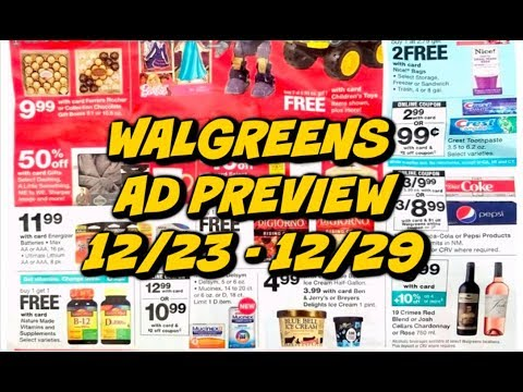 WALGREENS AD PREVIEW 12/23 - 12/29 | DEAL ON PIZZA & TOOTHPASTE!