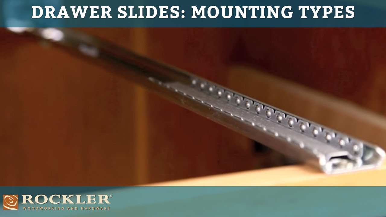 Drawer Slide Tutorial Mounting Types Youtube