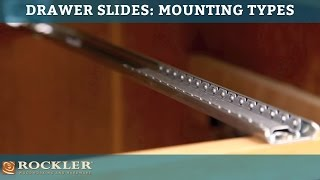 Drawer Slide Tutorial: Mounting Types