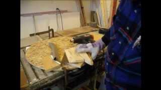 Bending vinyl J channel to trim a 24 inch round window