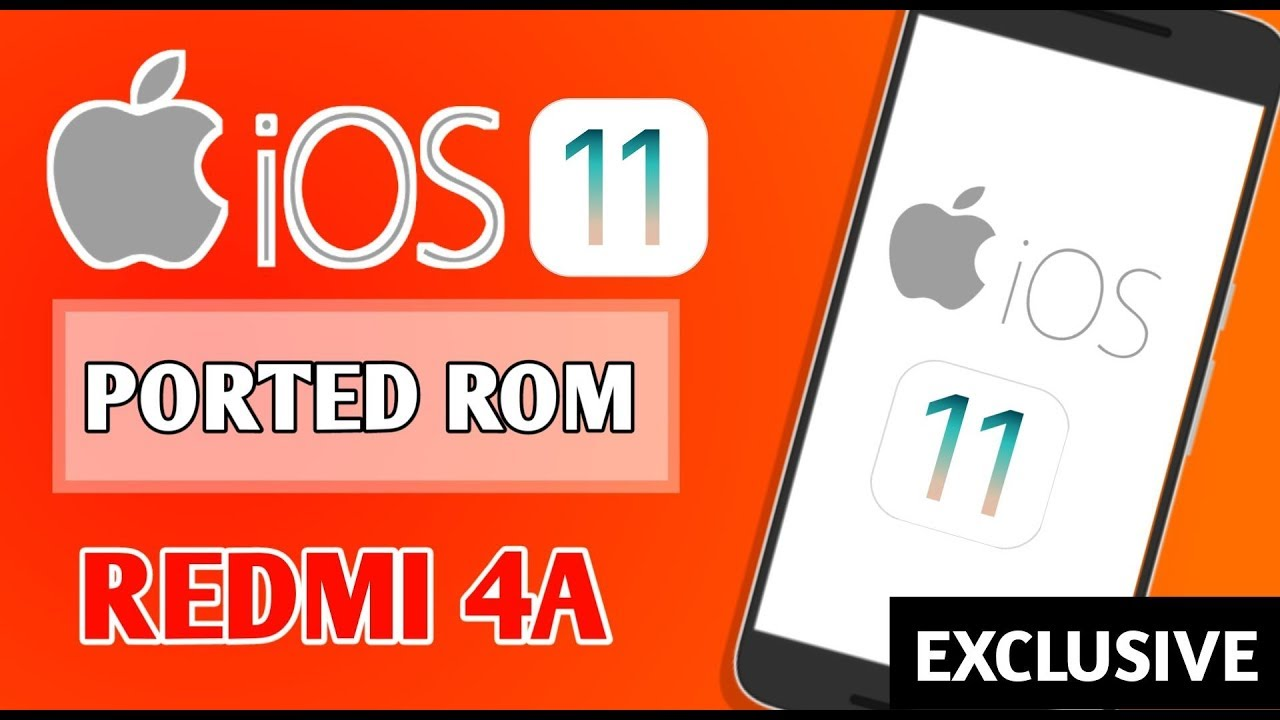 Redmi 4A - Install iPhone iOS 11 custom rom on Android 2018 - IOS 11 Rom  Install & Preview