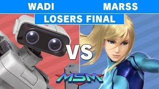 MSM 176 - Wadi (R.O.B.) vs Marss (Zero Suit Samus) Losers Finals - Smash Ultimate