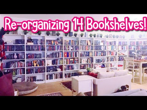 RE-ORGANIZING 14 BOOKSHELVES! (My New Apartment)
