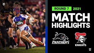 Panthers v Knights Match Highlights   Round 7, 2021   Telstra Premiership   NRL