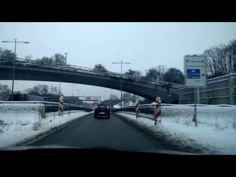Munich München Winter drive through