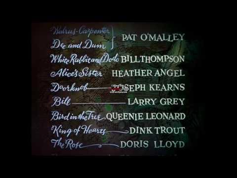 Alice in Wonderland 1951 Credits Song Cantonese