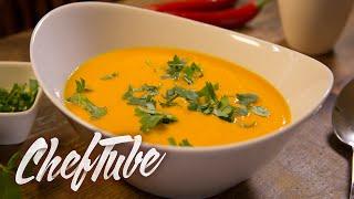 How To Make Pumpkin Soup And Coconut Milk - Recipe In Description