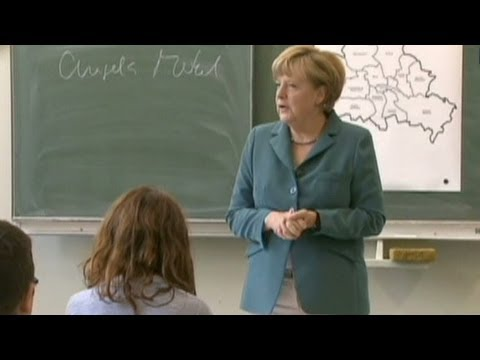 Merkel teaches German history at school