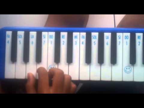 Andra Eagle, Cara bermain pianika lagu Bunda